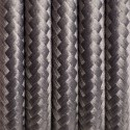 Ciemnoszary kabel w oplocie poliestrowym 14 szlachetny antracyt dwużyłowy 2x0.75 Kolorowe Kable