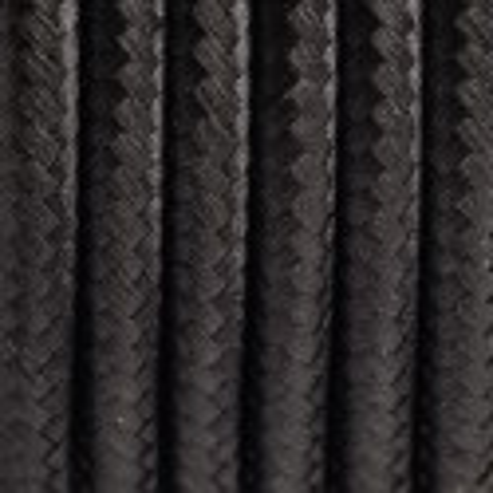 Kabel w oplocie poliestrowym 15 czarny tulipan dwużyłowy 2x0.75 Kolorowe Kable
