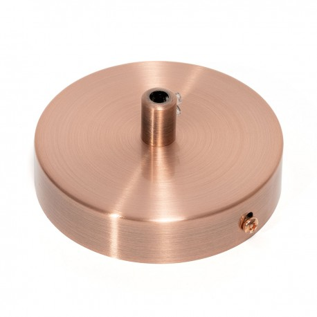 Metal, copper ceiling cup with a cable lock Kolorowe Kable
