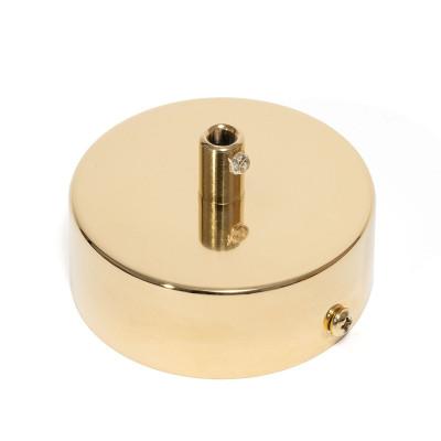 Złota osłonka sufitowa z metalową blokadą przewodu - jednokablowa, maskownica sufitowa złota Kolorowe Kable
