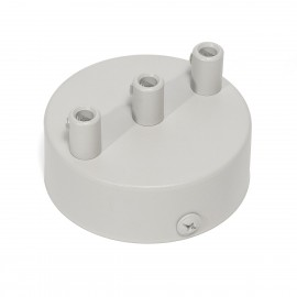 Light gray ceiling cup - a three-wire ceiling mask Kolorowe Kable