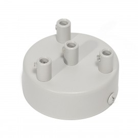 Light gray ceiling cup - a four-cable ceiling cup Kolorowe Kable