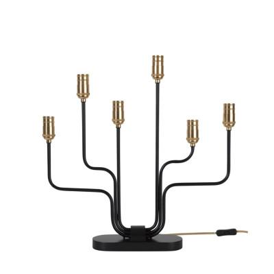 Lamp Candlestick FLEMMING 213-60 black, 53cm, E14 STAR TRADING