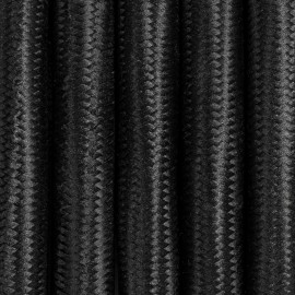 Black polyester 3-core braided cable 3x2.5mm2  KOLOROWE KABLE
