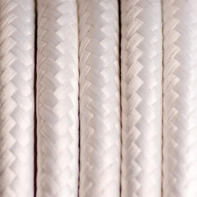 Kabel w oplocie poliestrowym 16 biały bez dwużyłowy 2x0.75