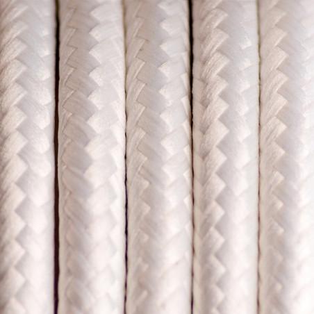 Biały kabel w oplocie poliestrowym 16 biały bez dwużyłowy 2x0.75 Kolorowe Kable