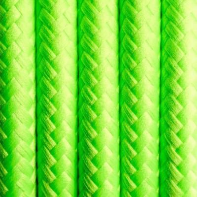 Kabel w oplocie poliestrowym 17 świeża limetka dwużyłowy 2x0.75