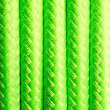 Kabel w oplocie poliestrowym 17 świeża limetka dwużyłowy 2x0.75 Kolorowe Kable