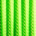 Round electric cable covered by polyester 17 fresh lime 2x0.75
