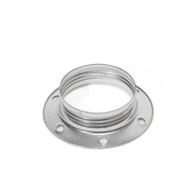 Aluminiowy pierścień do oprawki E27 umożliwiający montaż klosza lub abażuru Kolorowe Kable