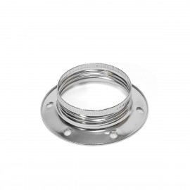 Chromed metal ring for the E27 lamp holder for mounting a lampshade or lampshade Kolorowe Kable
