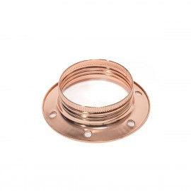 A copper metal ring for an E27 lampholder for mounting a lampshade or lampshade Kolorowe Kable