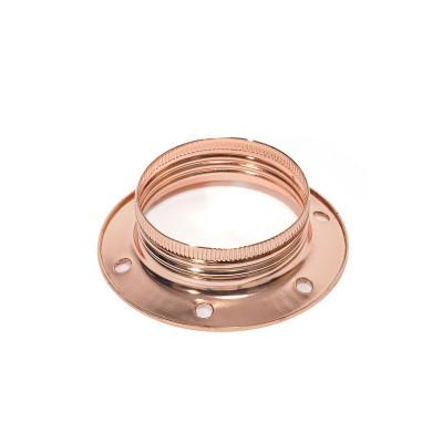 Miedziany metalowy pierścień do oprawki E27 umożliwiający montaż klosza lub abażuru Kolorowe Kable