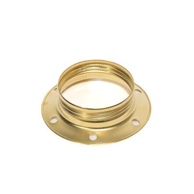 Złoty metalowy pierścień do oprawki E27 umożliwiający montaż klosza lub abażuru Kolorowe Kable