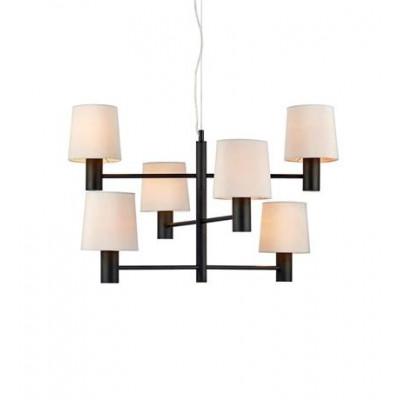 Hanging lamp HERE 3L Black / White 107902 MARKSLOJD