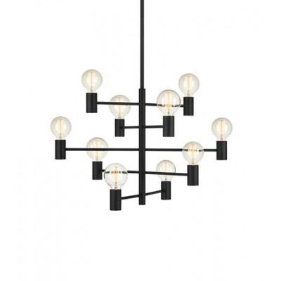 Hanging lamp PARIS 10x60W Black 107187 MARKSLOJD