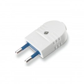 White plastic flat plug for 2x0.75mm2 cables Scame