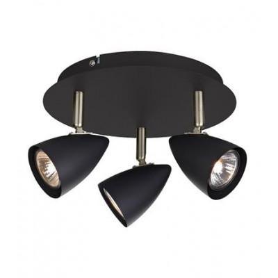 CIRO lamp Plafond Ceiling 3L Black / Gold Brushed 106320 MARKSLOJD