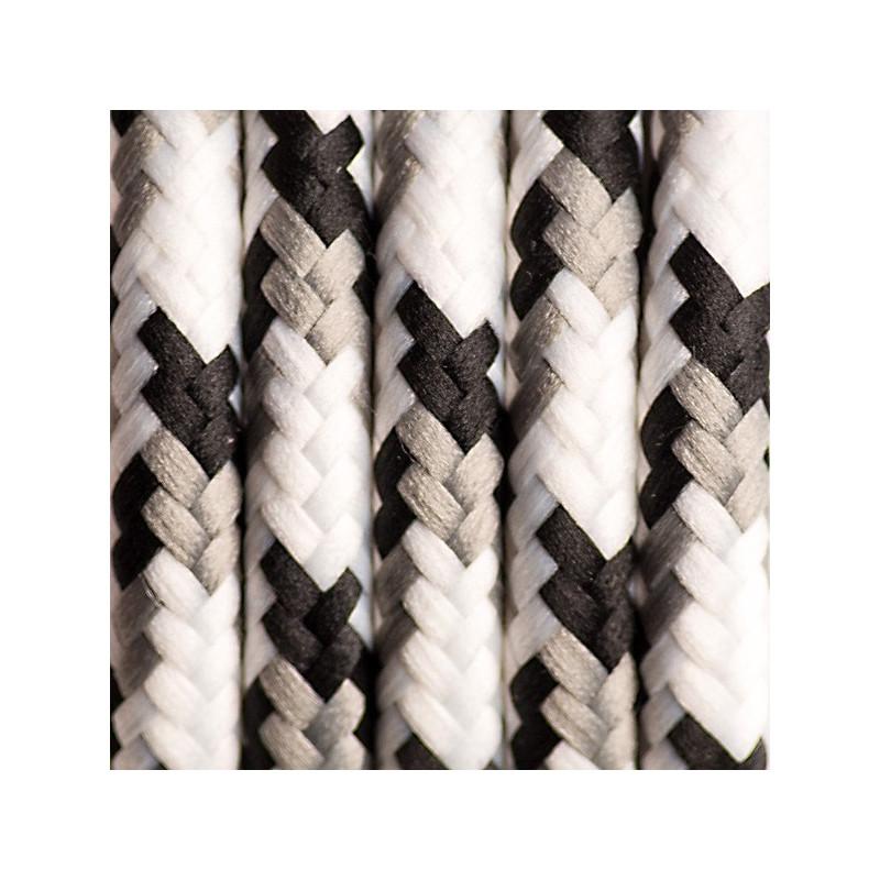 Kabel w oplocie poliestrowym 18 brzozowa kora dwużyłowy 2x0.75
