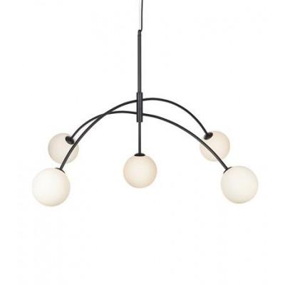 Hanging lamp HEAVEN 5x28W black / White 107560 MARKSLOJD