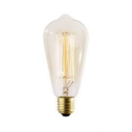 Decorative filament light bulb Straight ST64 65mm 60W