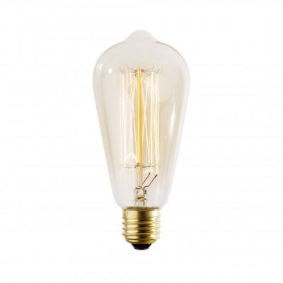 Dekoracyjna żarówka 60W Straight ST64 64mm żarnikowa w stylu retro wg projektu Edisona