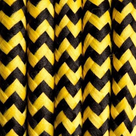Czarno żółty kabel w oplocie poliestrowym 20 pszczoła miodna dwużyłowy 2x0.75 Kolorowe Kable