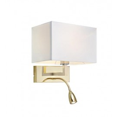 Kinkiet SAVOY 60+3W LED Złoty/Biały 106308 MARKSLOJD