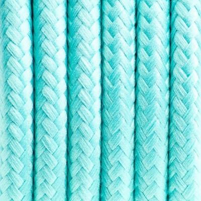 Kabel w oplocie poliestrowym 21 mroźna mięta dwużyłowy 2x0.75