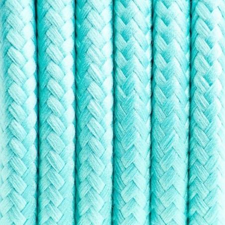 Kabel w oplocie poliestrowym 21 mroźna mięta dwużyłowy 2x0.75 Kolorowe Kable