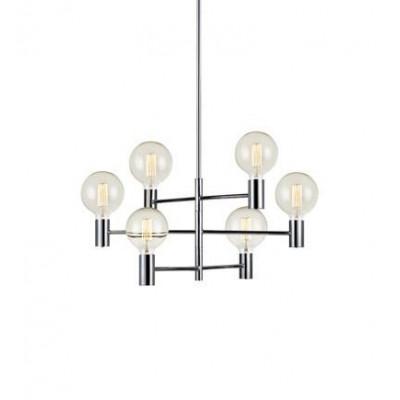 Hanging lamp CAPITAL 6x60W chrome 106419 MARKSLOJD