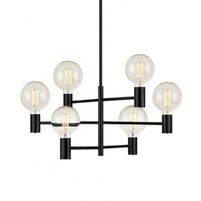 Hanging lamp CAPITAL 6x60W black 107281 MARKSLOJD