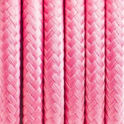 Kabel w oplocie poliestrowym 22 różowa piwonia dwużyłowy 2x0.75