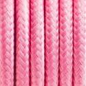 Round electric cable covered by polyester 22 pink peony 2x0.75