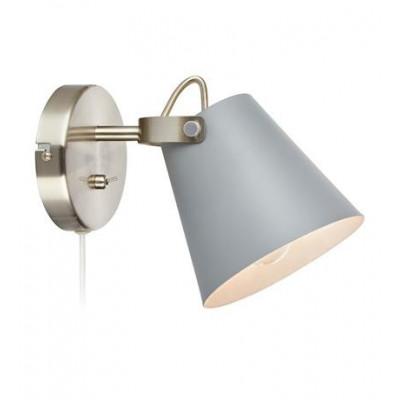 Wall lamp TRIBE 40W E14 white / steel 107395 MARKSLOJD