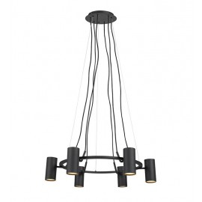 Hanging lamp PORTO 6x12W BLACK/SMOKE 107357 MARKSLOJD