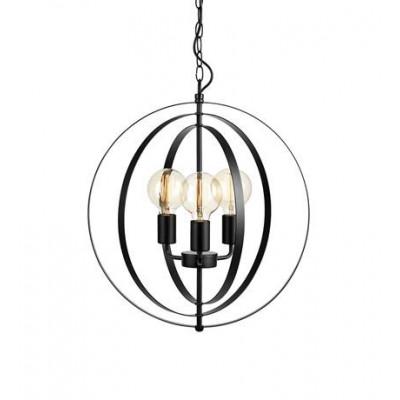 Hanging lamp ORBIT 3x60W E27 BLACK MAT 107942 MARKSLOJD