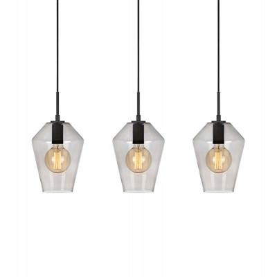 Hanging lamp RETRO 3x60W Black / Smoke 107132 MARKSLOJD