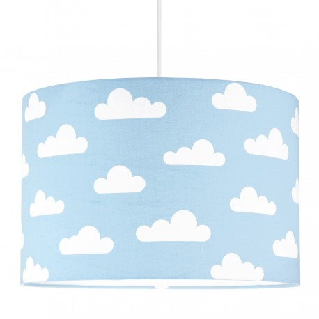 White Clouds on light blue Lampshade Ø40cm