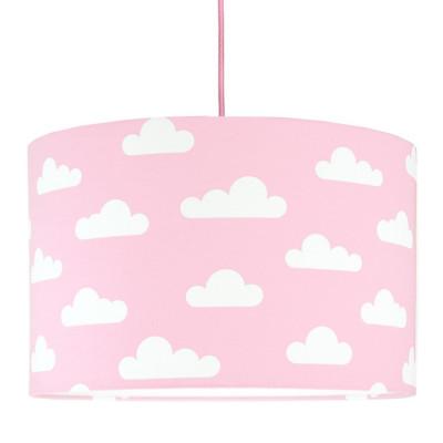 Abażur chmurki na różowym