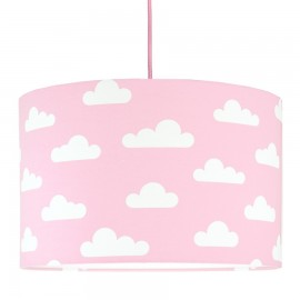 White Clouds on pink Lampshade Ø40cm