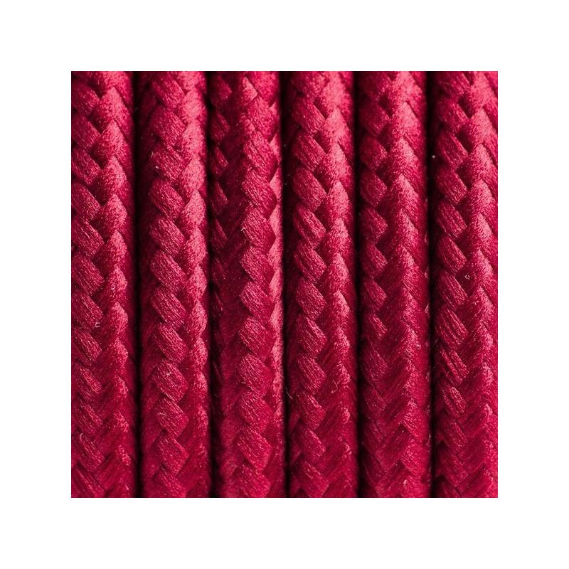 Kabel w oplocie poliestrowym 23 burgundzkie wino dwużyłowy 2x0.75