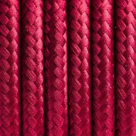 Bordowy kabel w oplocie poliestrowym 23 burgundzkie wino dwużyłowy 2x0.75 Kolorowe Kable