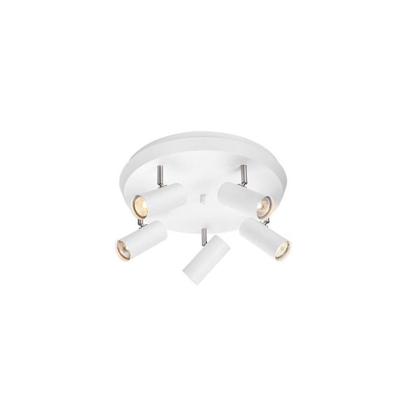 Ceiling lamp / Plafond TORINO 5x7W GU10 white/ steel 107781 MARKSLOJD