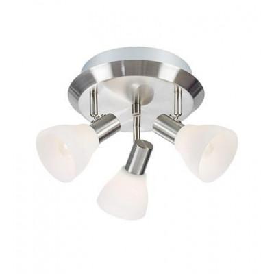 Ceiling lamp / Plafond VERO 3x40W E14 steel / White 107505 MARKSLOJD