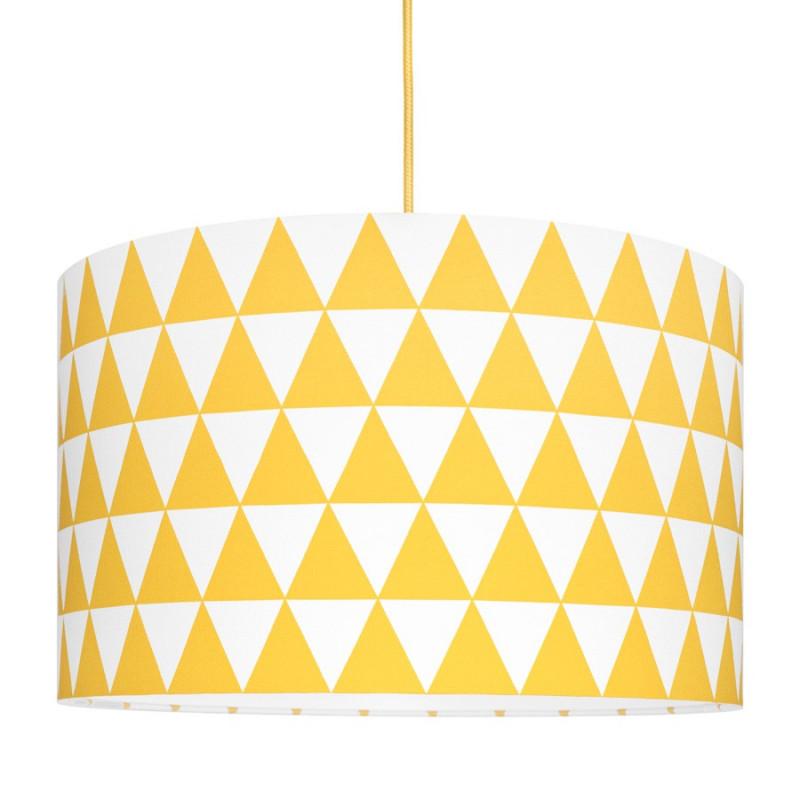 Abażur trójkąty żółte