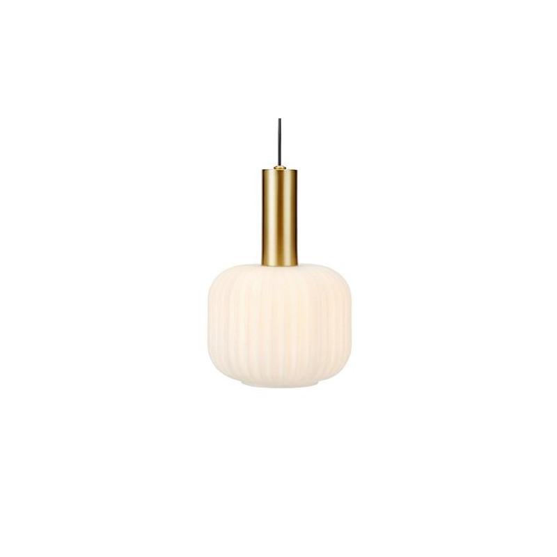 Hanging Lamp SOBER 40W E14 Brushed Brass / White 108123 MARKSLOJD