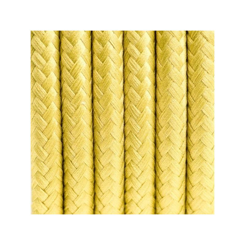 Kabel w oplocie poliestrowym 24 grecka oliwka dwużyłowy 2x0.75