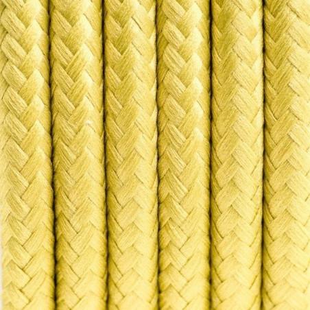 Kabel w oplocie poliestrowym 24 grecka oliwka dwużyłowy 2x0.75 Kolorowe Kable