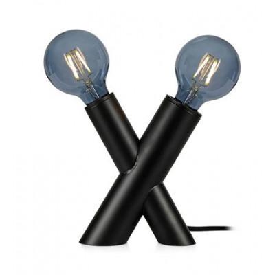 Lampa stołowa SIMUL 40W E14/E27 Czarna 108052 MARKSLOJD